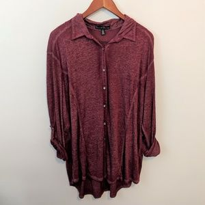 Maroon French Laundry Tunic High Low